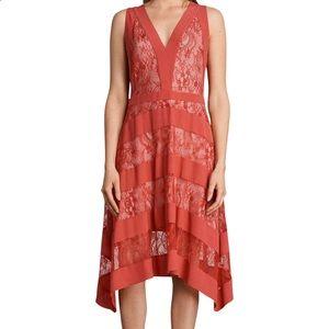 All Saints | Coral Lace Dress